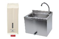 Hand washing sinks and accessories