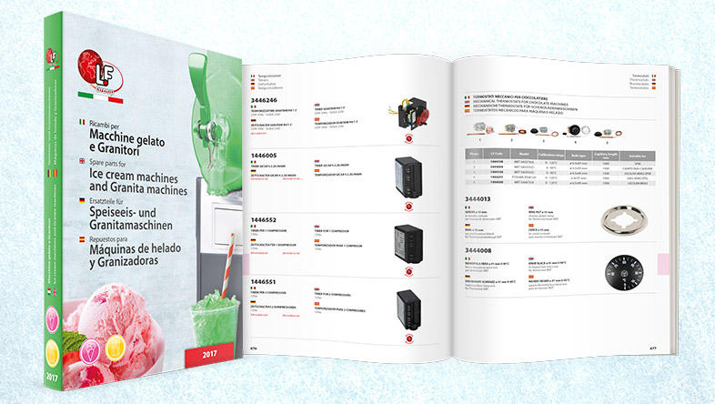 Catalogue for Ice Cream machines and Granita machines